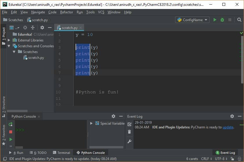 PyCharm Tutorial - Writing Python Code In PyCharm (IDE