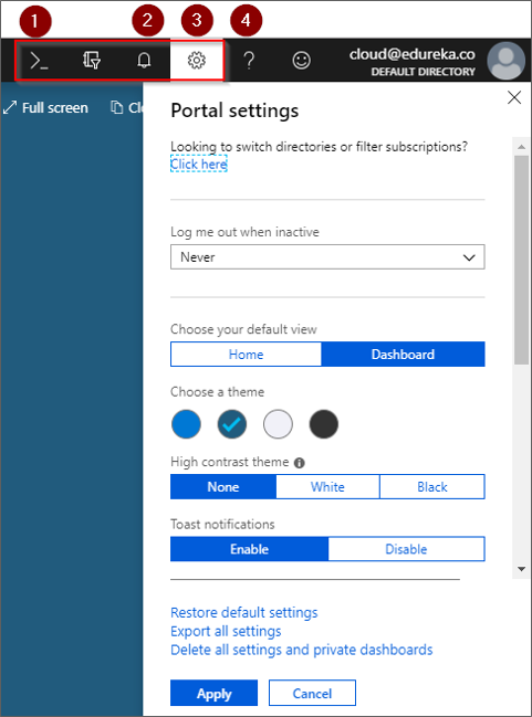 Cloud Shell - Azure Portal - Edureka