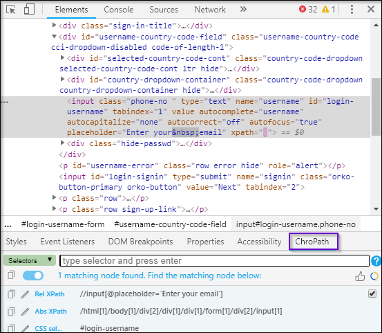 New Features of ChroPath for XPath and CSS Selectors | Edureka