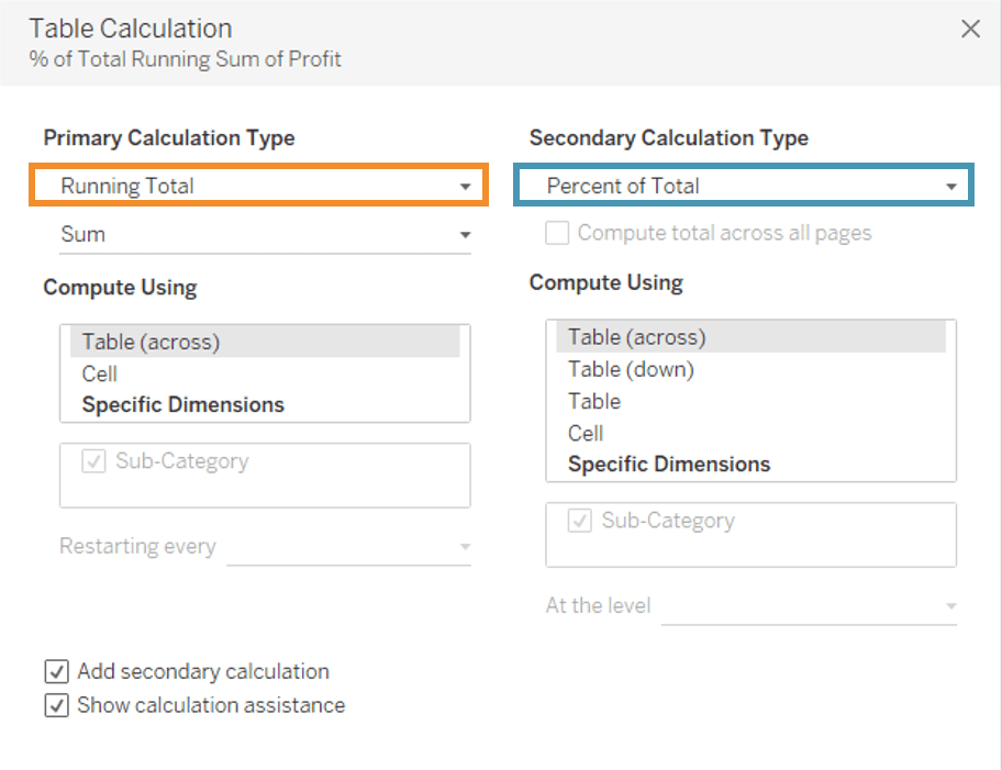 Pareto Chart Table Calculation - Tableau Charts - Edureka