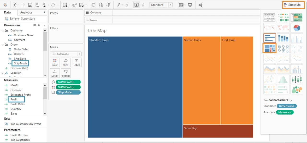 Tree Map - Tableau Charts - Edureka
