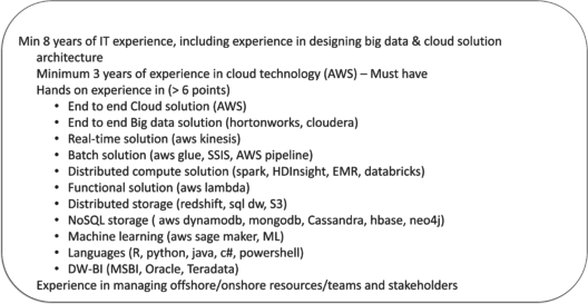 Brillio Job Description - AWS Resume - Edureka