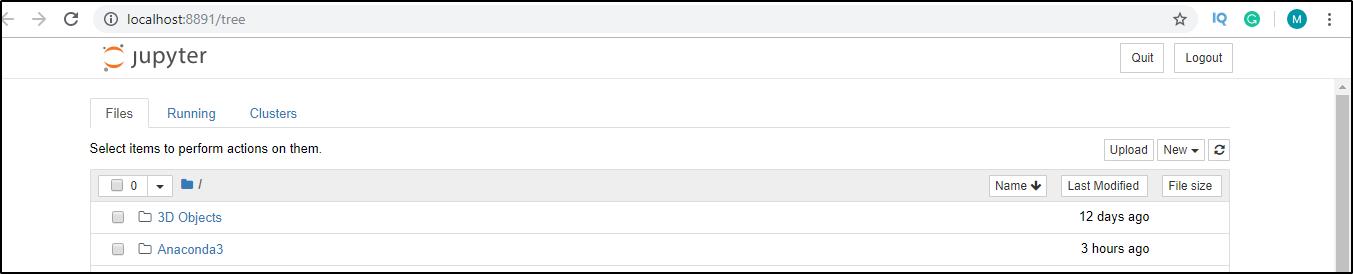 Jupyter Notebook file explorer