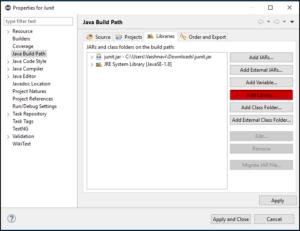 Add library- Junit tutorial - Edureka