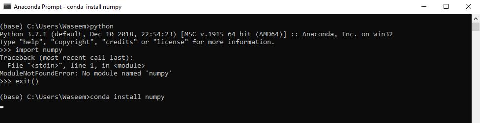 Installing NumPy