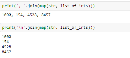 Output - Conversion of list to strings- Edureka
