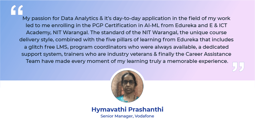 Learner 1 - Graduation Ceremony 2020 PGP AI-ML - Edureka